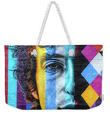 Times They Are A Changing Giant Bob Dylan Mural Minneapolis Detail 2 Weekender Tote Bag by Wayne Moran