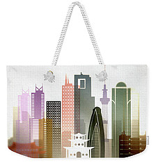 Tokyo  Cityscape Weekender Tote Bag by Dim Dom