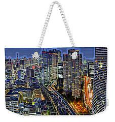 Tokyo Japan Skyline Weekender Tote Bag by Marvin Blaine