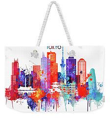 Tokyo Watercolor Weekender Tote Bag by Dim Dom