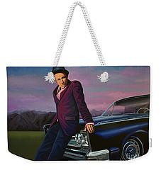 Tom Waits Weekender Tote Bag by Paul Meijering