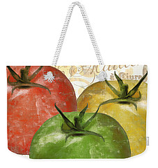 Tomatoes Tomates Weekender Tote Bag by Mindy Sommers