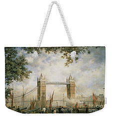 Tower Bridge - From The Tower Of London Weekender Tote Bag by Richard Willis