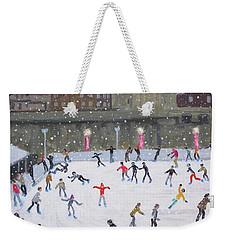 Tower Of London Ice Rink Weekender Tote Bag by Andrew Macara