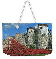 Tower Of London Poppies - Blood Swept Lands And Seas Of Red  Weekender Tote Bag by Richard Harpum