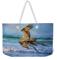 Treasures For The Nest Osprey Art Weekender Tote Bag by Jai Johnson