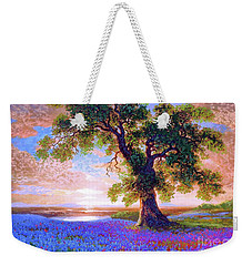 Tree Of Tranquillity Weekender Tote Bag by Jane Small