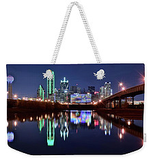 Trinity River And Pond Weekender Tote Bag by Frozen in Time Fine Art Photography