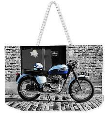 Triumph Bonneville T120 Weekender Tote Bag by Mark Rogan