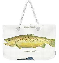 Trout Species Weekender Tote Bag by Juan Bosco