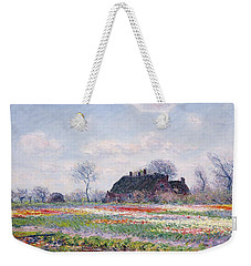 Tulip Fields At Sassenheim Weekender Tote Bag by Claude Monet