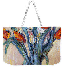 Tulips Weekender Tote Bag by Claude Monet