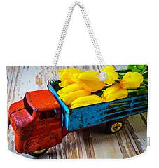 Tulips In Toy Truck Weekender Tote Bag by Garry Gay
