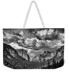Tunnel View In Black And White Weekender Tote Bag by Rick Berk
