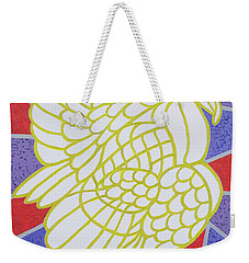 Turkey On Stained Glass Weekender Tote Bag by Pat Scott