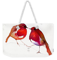 Two Little Birds Weekender Tote Bag by Nancy Moniz
