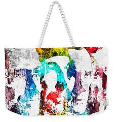 U2 Grunge Weekender Tote Bag by Daniel Janda