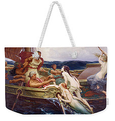 Ulysses And The Sirens Weekender Tote Bag by Herbert James Draper