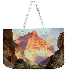 Under The Red Wall Weekender Tote Bag by Thomas Moran