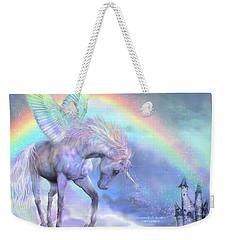 Unicorn Of The Rainbow Weekender Tote Bag by Carol Cavalaris