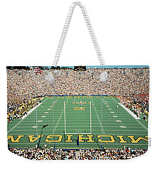 University Of Michigan Stadium, Ann Weekender Tote Bag by Panoramic Images