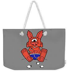 Uno The Cyclops Bunny Weekender Tote Bag by Bizarre Bunny