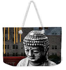 Urban Buddha  Weekender Tote Bag by Linda Woods