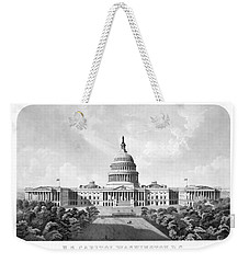 Us Capitol Building - Washington Dc Weekender Tote Bag by War Is Hell Store