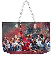 Us Women's Soccer Weekender Tote Bag by Semih Yurdabak