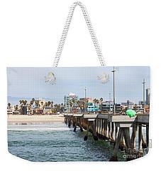 Venice Beach From The Pier Weekender Tote Bag by Ana V Ramirez