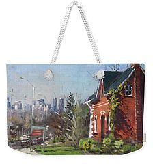 View Of Mississauga City Weekender Tote Bag by Ylli Haruni