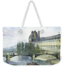 View Of The Pavillon De Flore Of The Louvre Weekender Tote Bag by Francois-Marius Granet