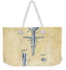 Vintage 1899 Golf Tee Patent Artwork Weekender Tote Bag by Nikki Marie Smith