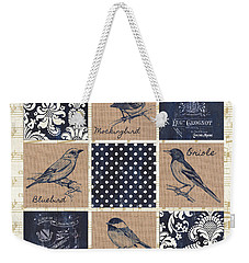 Vintage Songbird Patch 2 Weekender Tote Bag by Debbie DeWitt