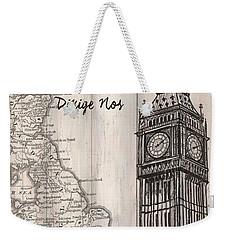 Vintage Travel Poster London Weekender Tote Bag by Debbie DeWitt