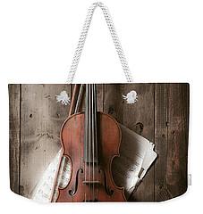 Violin Weekender Tote Bag by Garry Gay