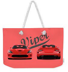 Viper Weekender Tote Bag by Mark Rogan