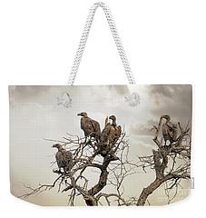 Vultures In A Dead Tree.  Weekender Tote Bag by Jane Rix