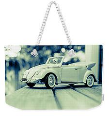 Vw Beetle Convertible Weekender Tote Bag by Jon Woodhams