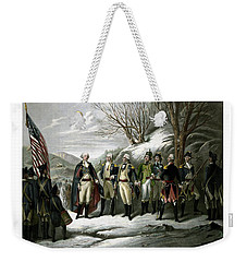 Washington And His Generals  Weekender Tote Bag by War Is Hell Store