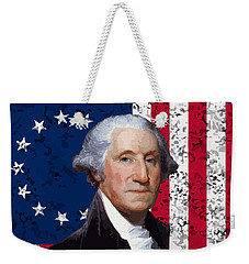 Washington And The American Flag Weekender Tote Bag by War Is Hell Store