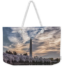 Washington Blossom Sunrise Weekender Tote Bag by Erika Fawcett