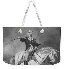 Washington Receiving A Salute At Trenton Weekender Tote Bag by War Is Hell Store