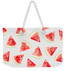 Watercolor Watermelon Pattern Weekender Tote Bag by Uma Gokhale
