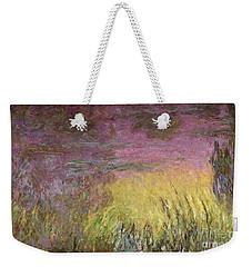 Waterlilies At Sunset Weekender Tote Bag by Claude Monet