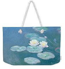 Waterlilies Evening Weekender Tote Bag by Claude Monet