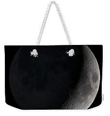 Waxing Crescent Moon Weekender Tote Bag by Stocktrek Images