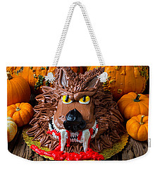 Wearwolf Cake Weekender Tote Bag by Garry Gay