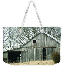Weathered Barn In Winter Weekender Tote Bag by Cricket Hackmann