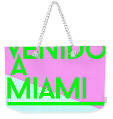 welcome to Miami Weekender Tote Bag by Cortney Herron